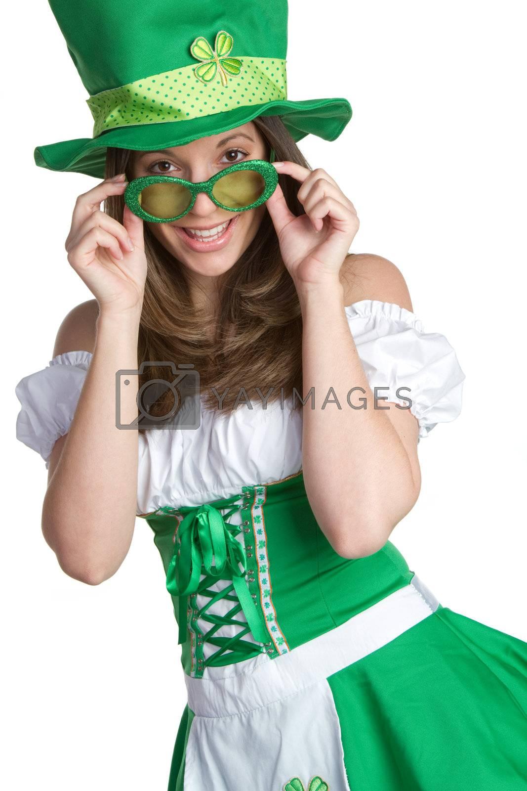 Smiling St Patricks Day Woman