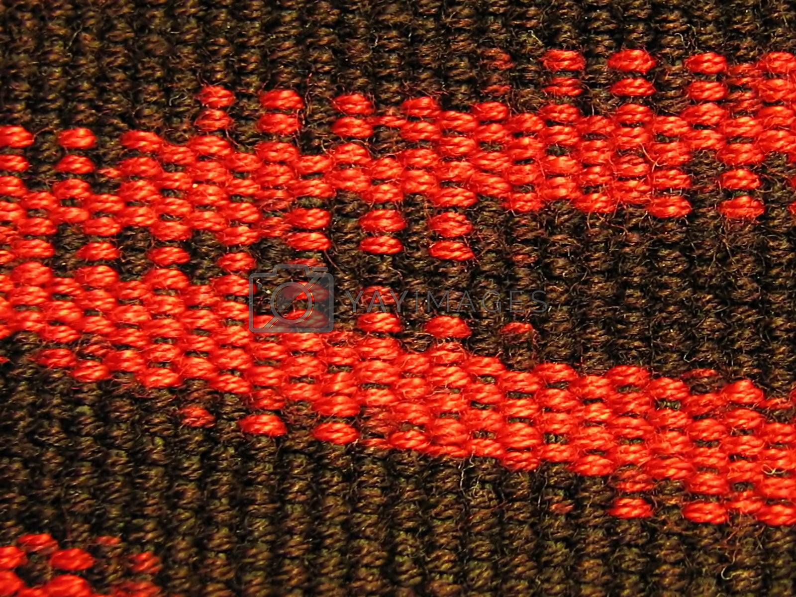 Red & Black Fabric Macro by llyr8