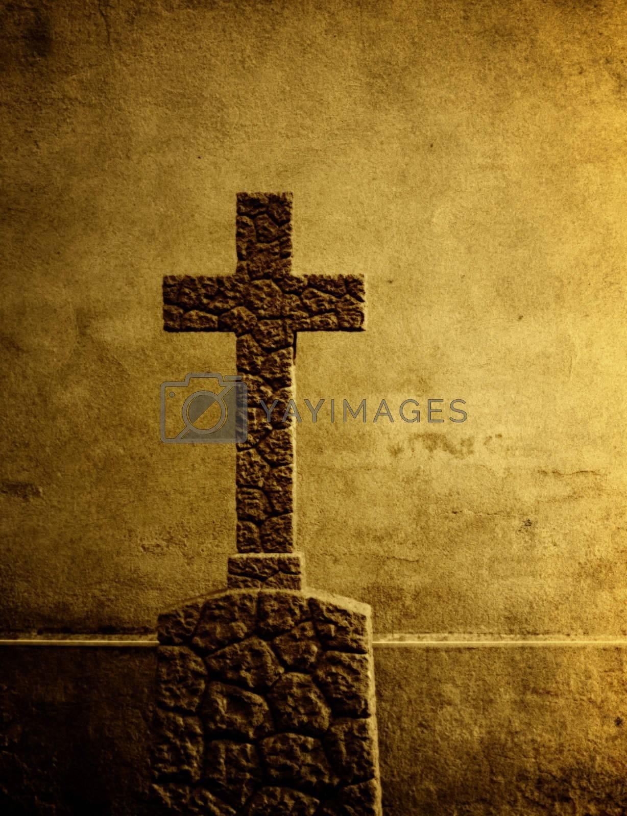 Cross on the European cemetery  by motorolka
