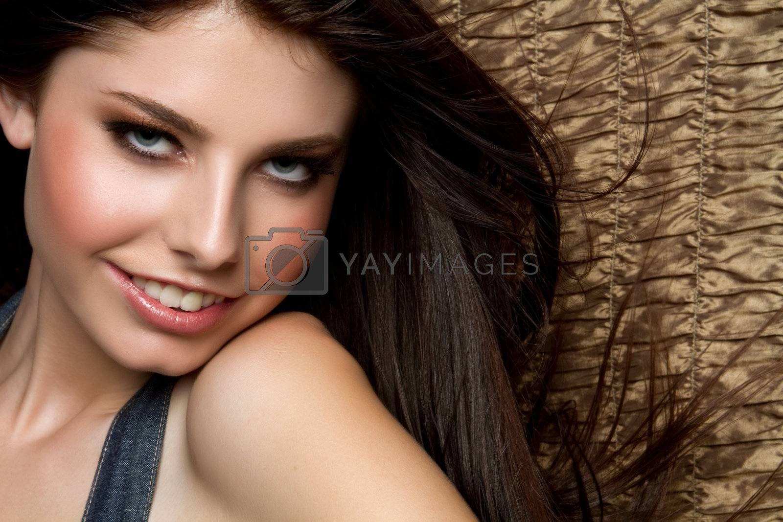 Beautiful smiling young happy woman