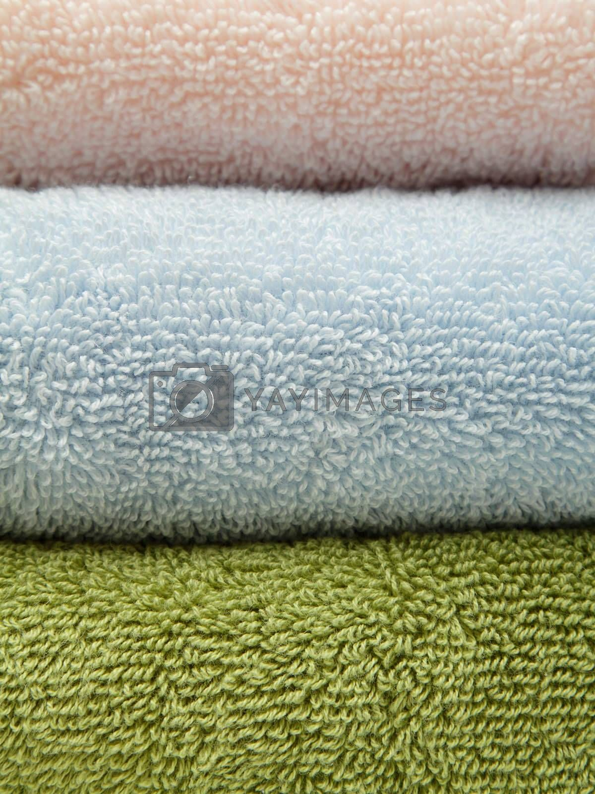 Three bath towels by pulen