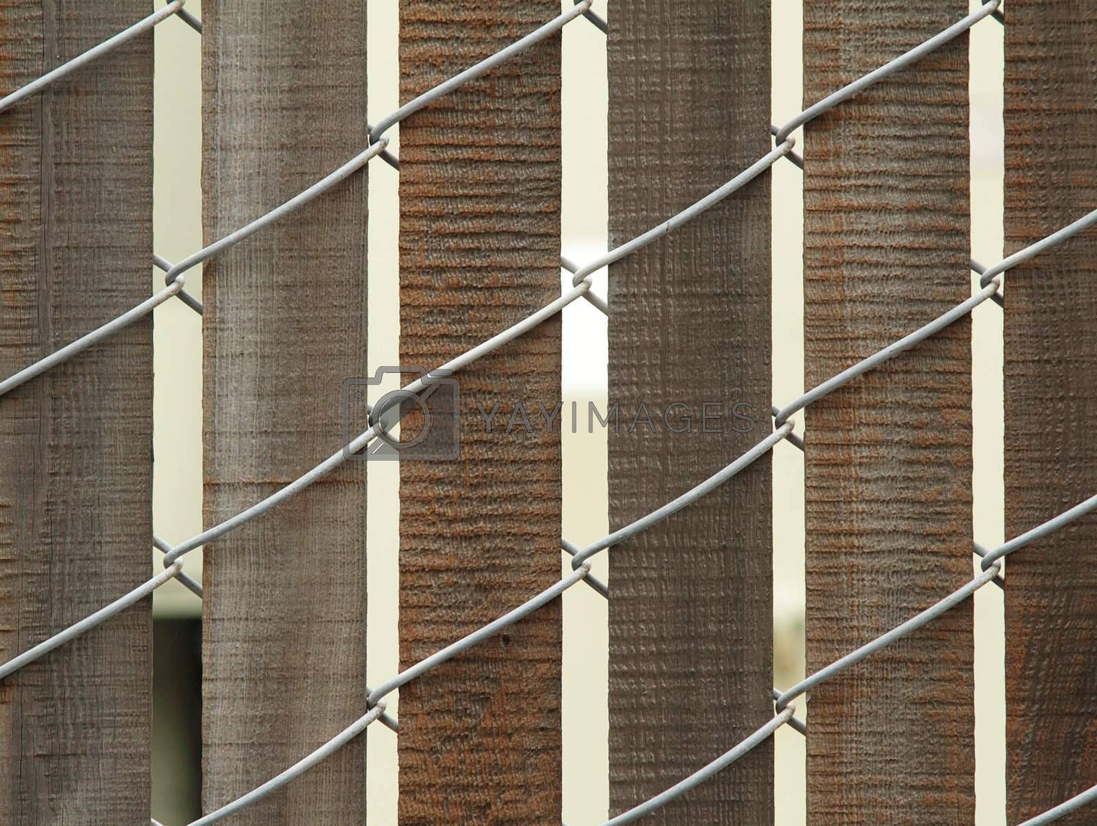 Closeup photo of wooden fence with wire