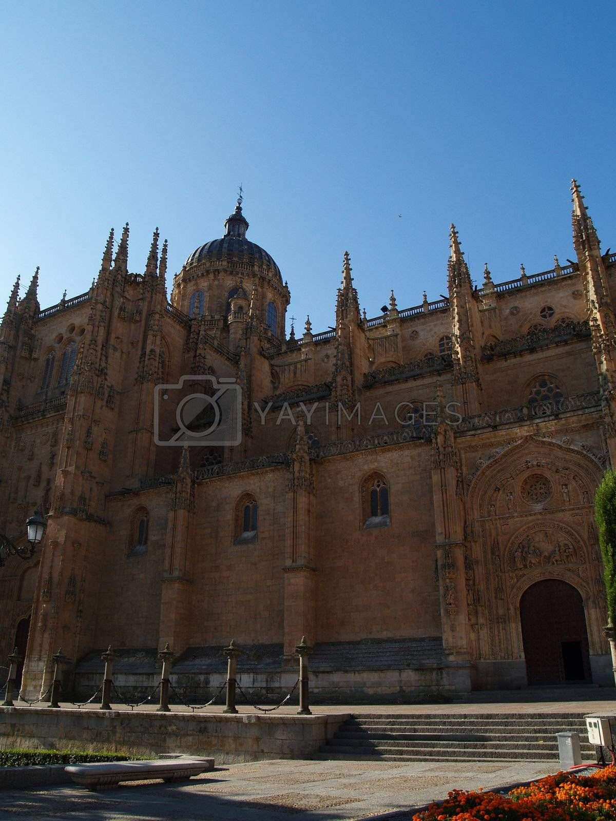 The new cathedral in Salamanca, Spain