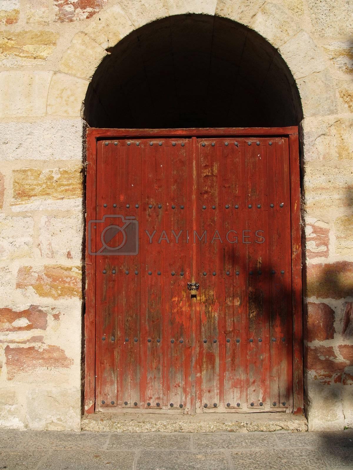 View on an old door.