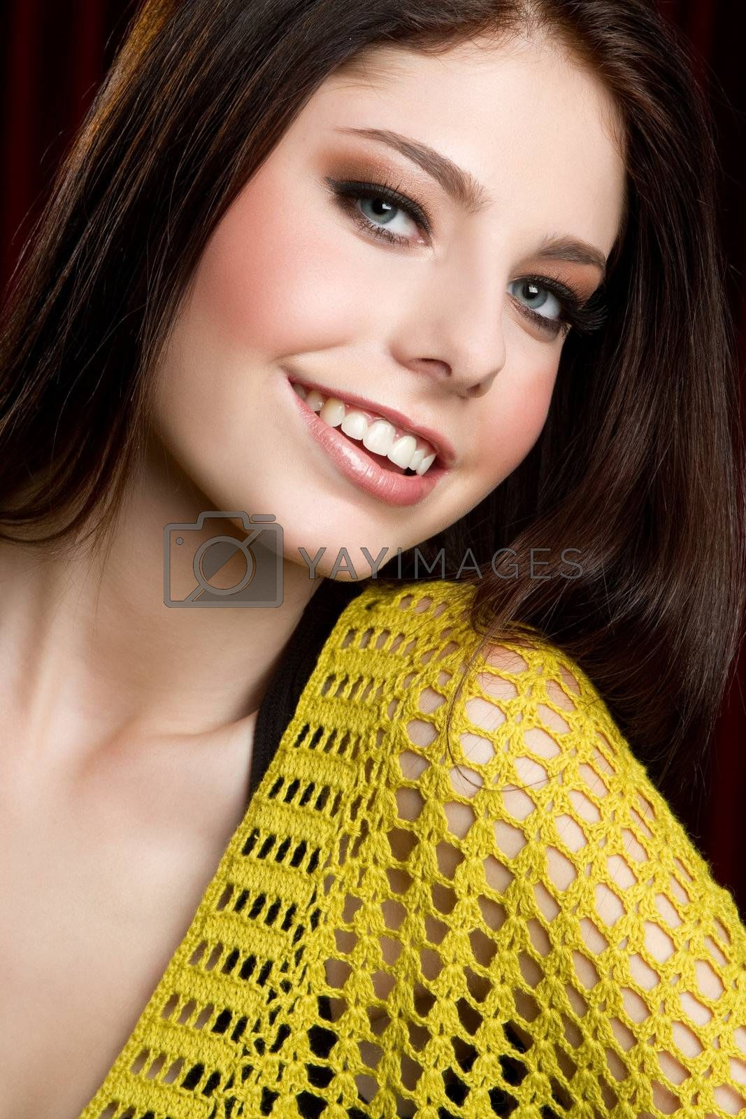 Beautiful smiling happy teen girl