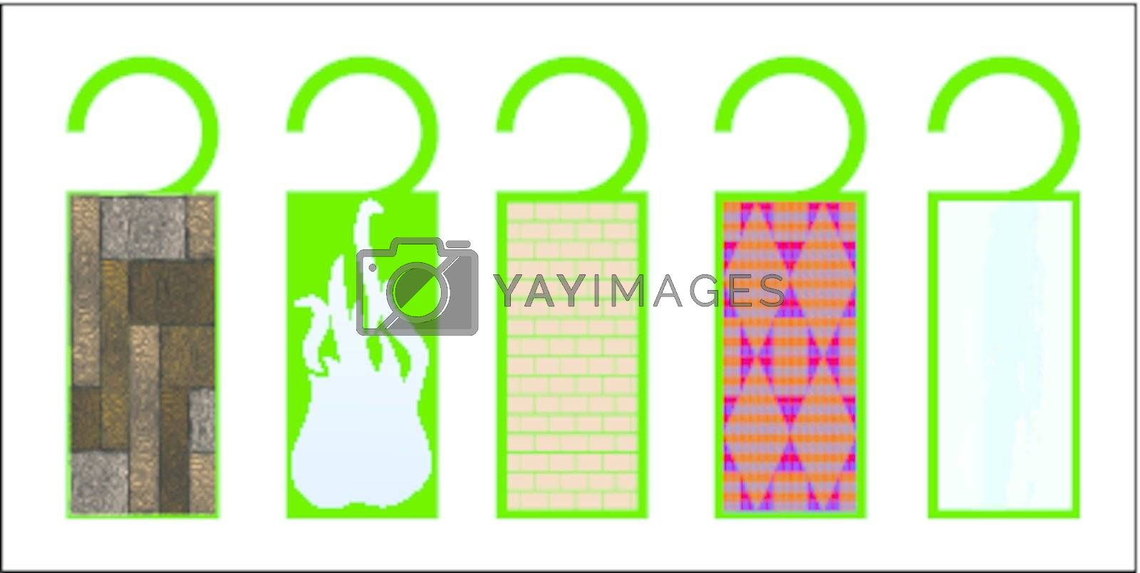 tags with texture, vector art illustration; more tags in my gallery