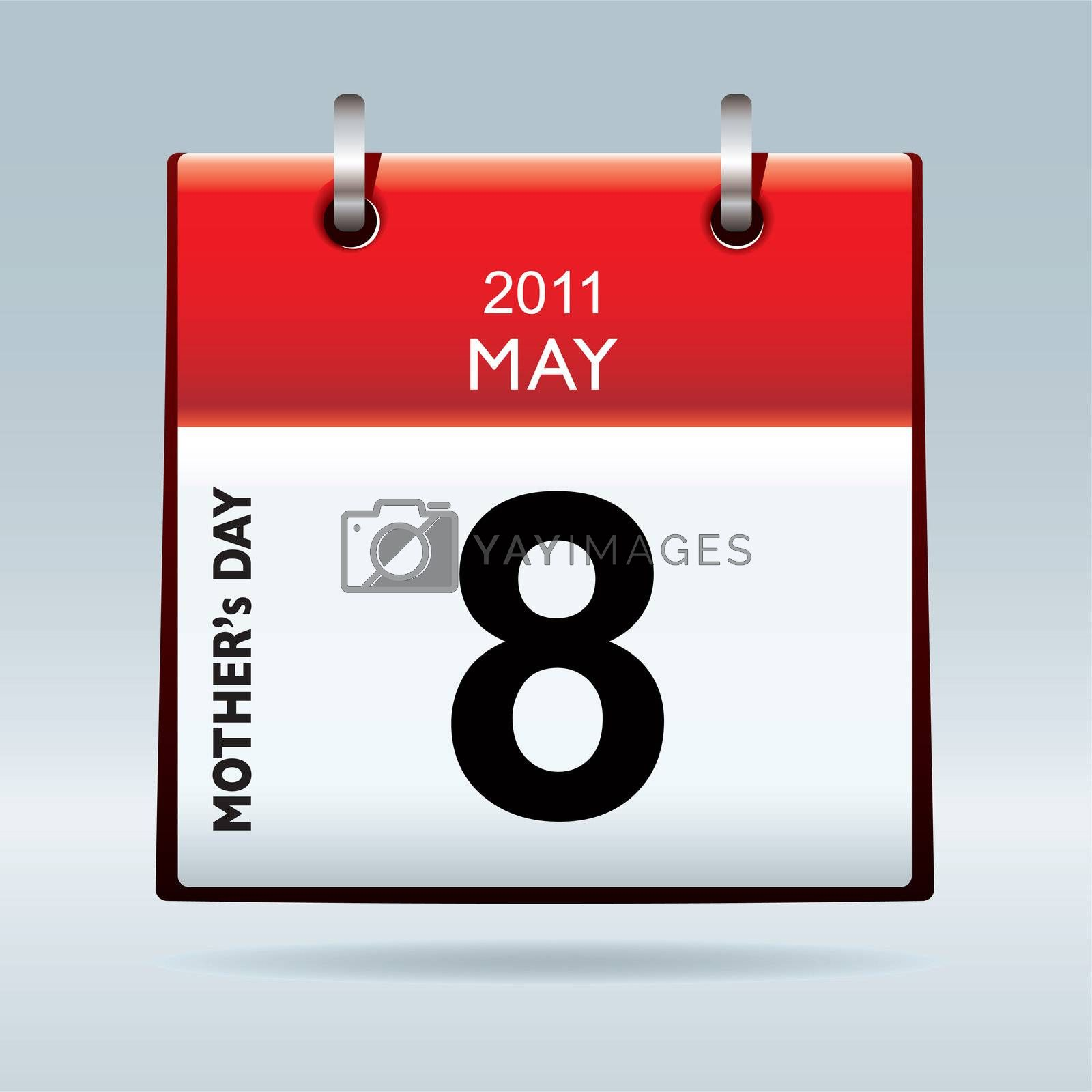 American and canadian mothers day for 2011 on calendar icon