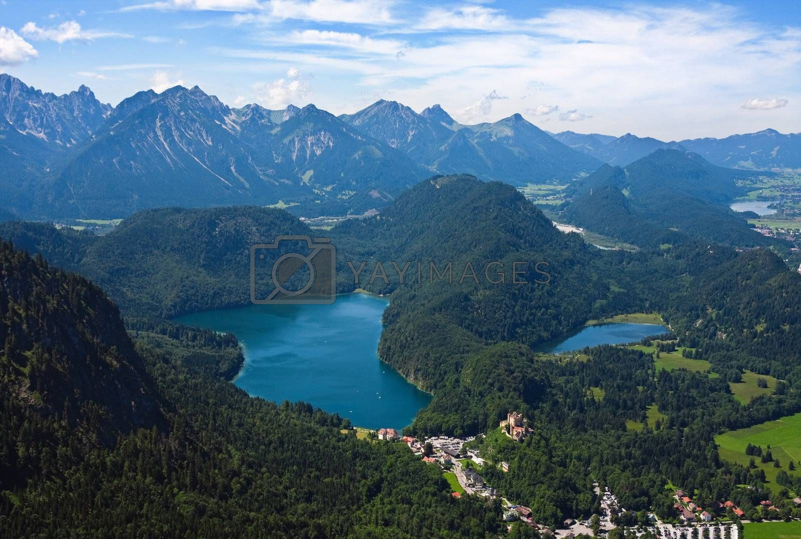 View on Bavarian Alpes (Germany) in the summer