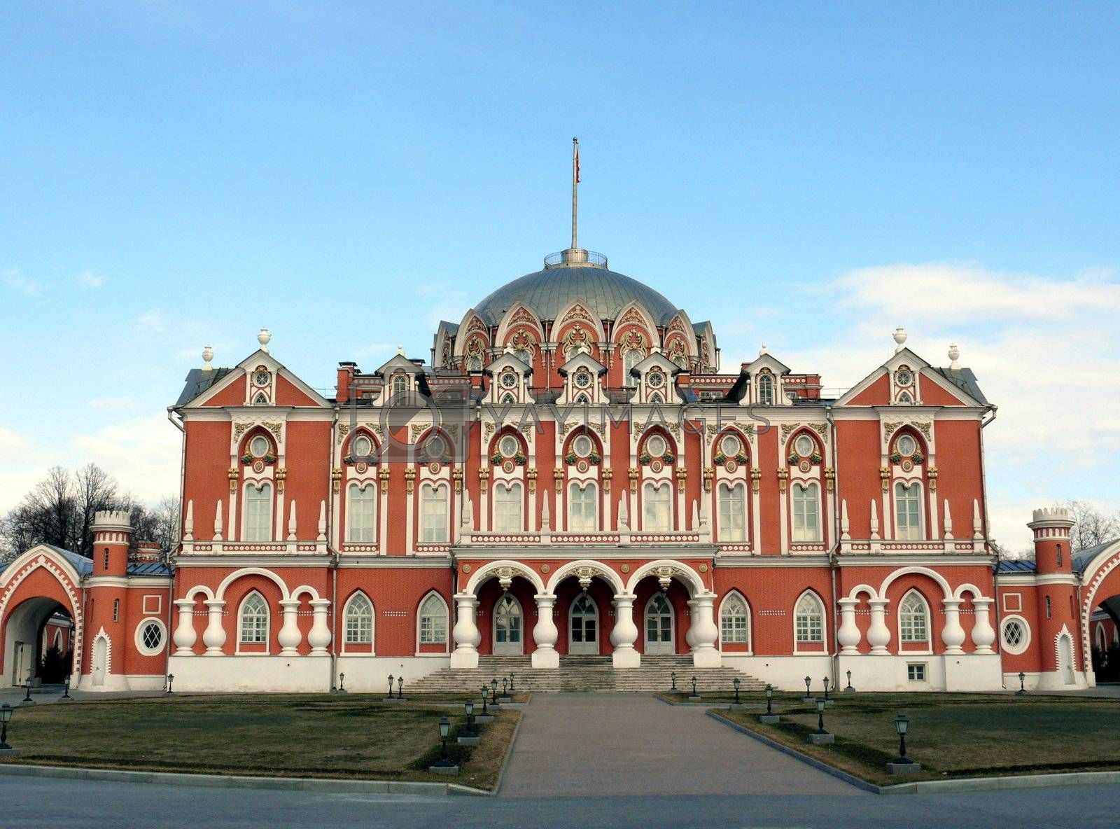 Petrovski travel palace in Moscow, Russia