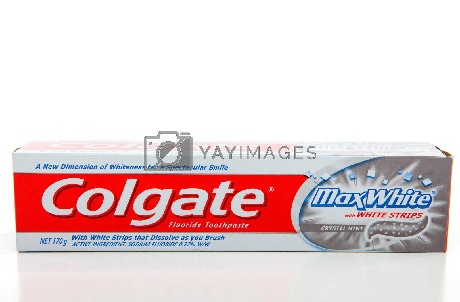 Colgate Max White Whitening Toothpaste Royalty Free Stock Image