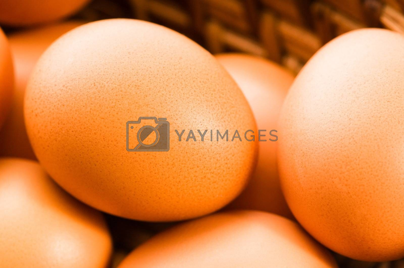 Fresh brown cage free eggs by joannawnuk