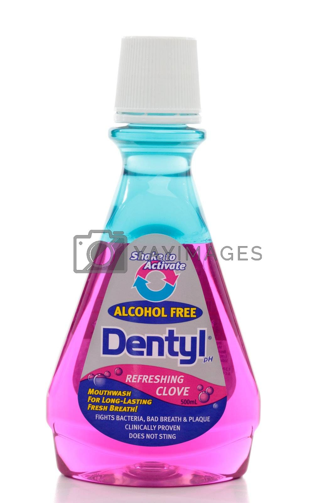 Dentyl mouth wash.  When mixed  the formulation creates an electrostatic reaction to  attract, lift and remove the bacteria and debris which cause bad breath and plaque.