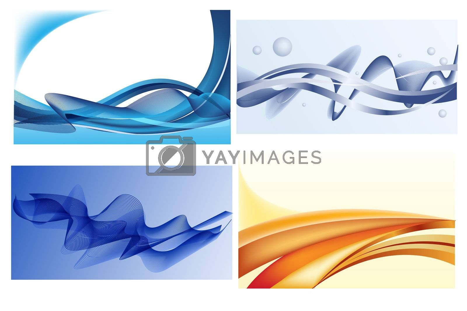 illustration of abstract wavy background