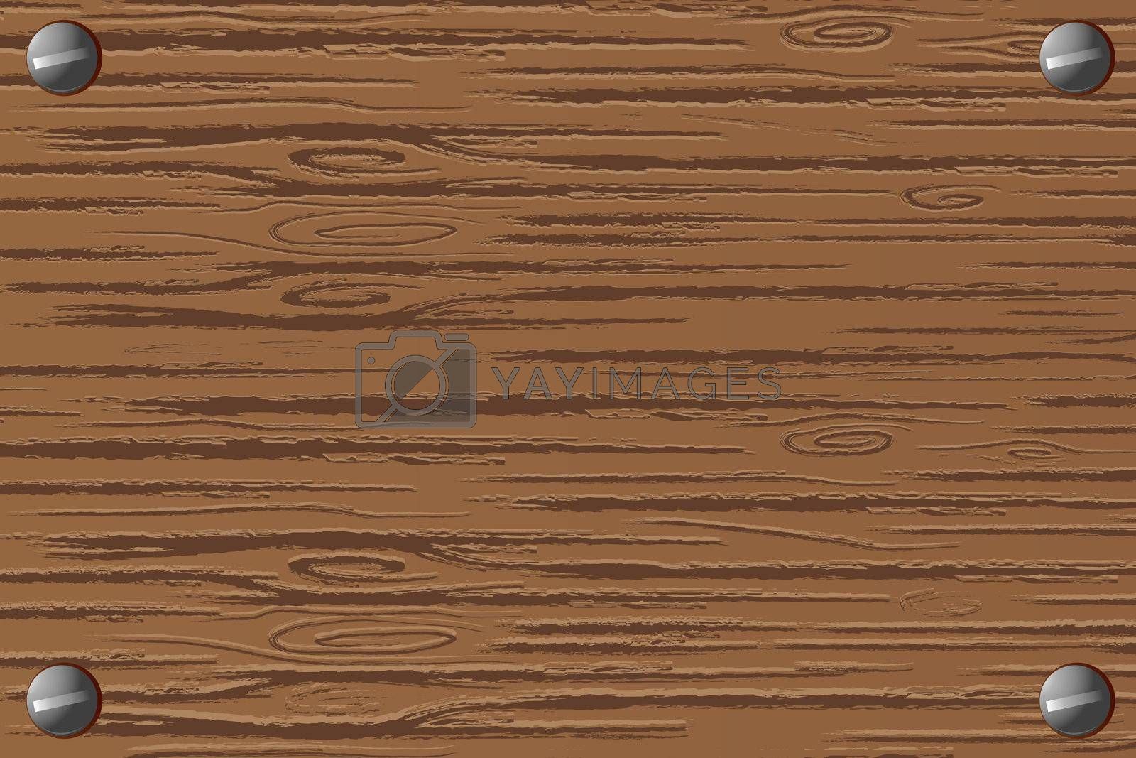 illustration of wooden board on white background