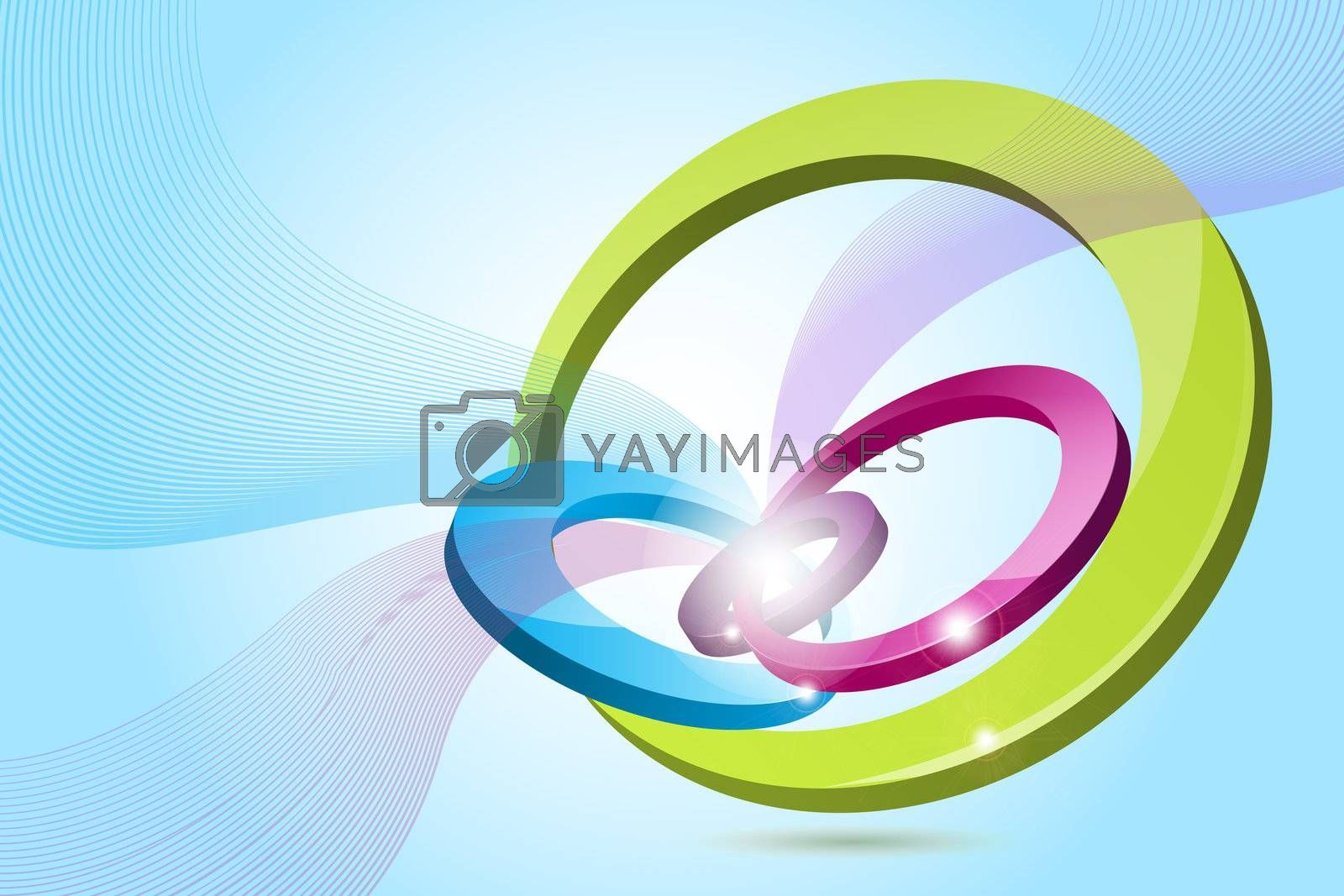 illustration of abstract colorful logo on abstract background