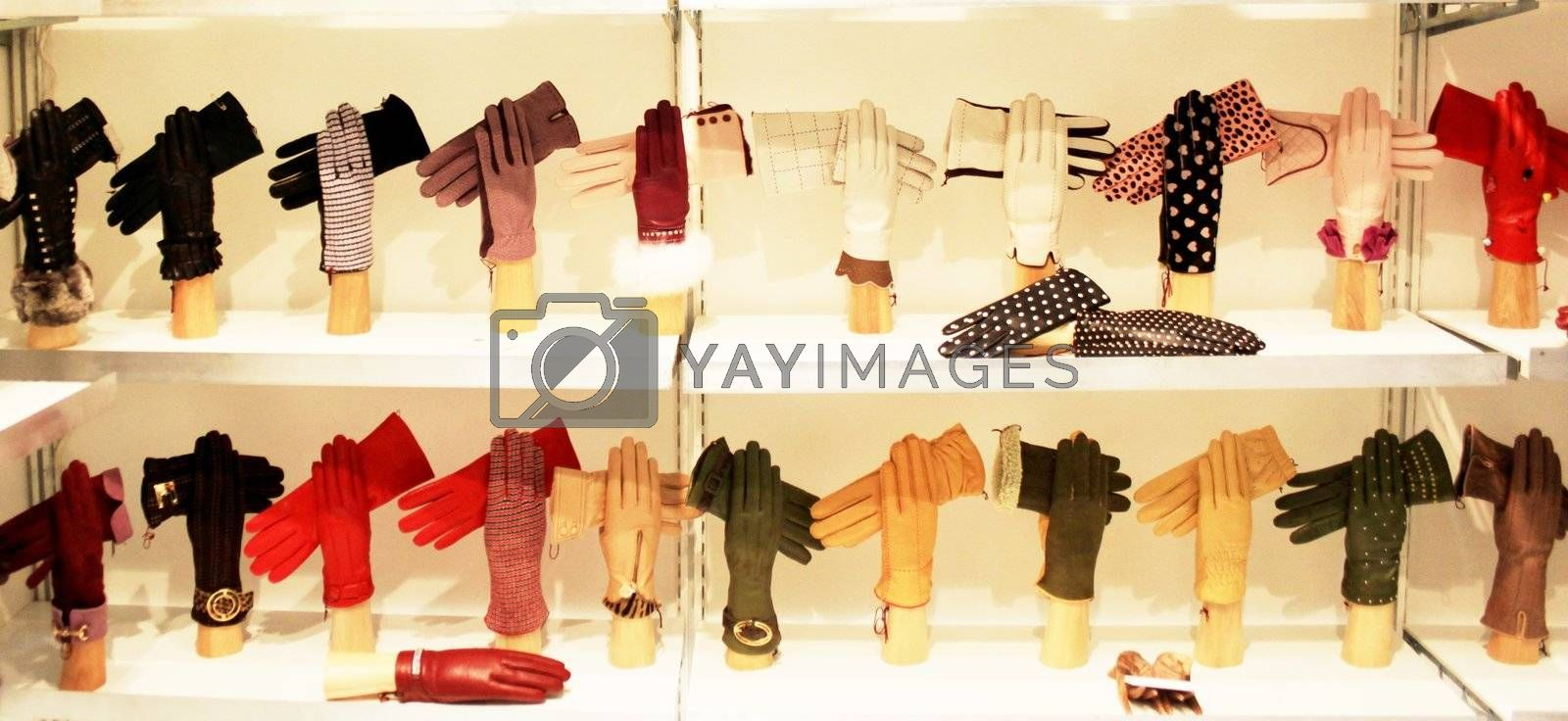 Made in Italy gloves exhibition during Milano women's prêt-à-porter fashion week 2010 in Milan, Italy.