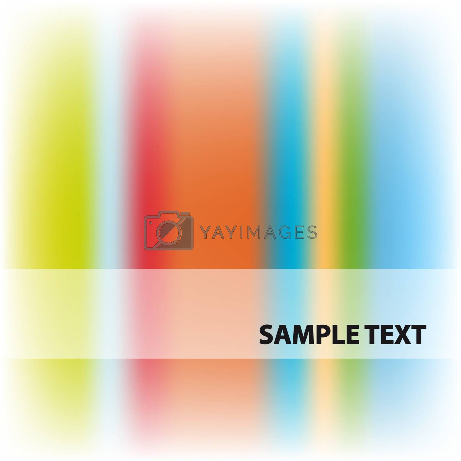 Vector abstract rainbow color background