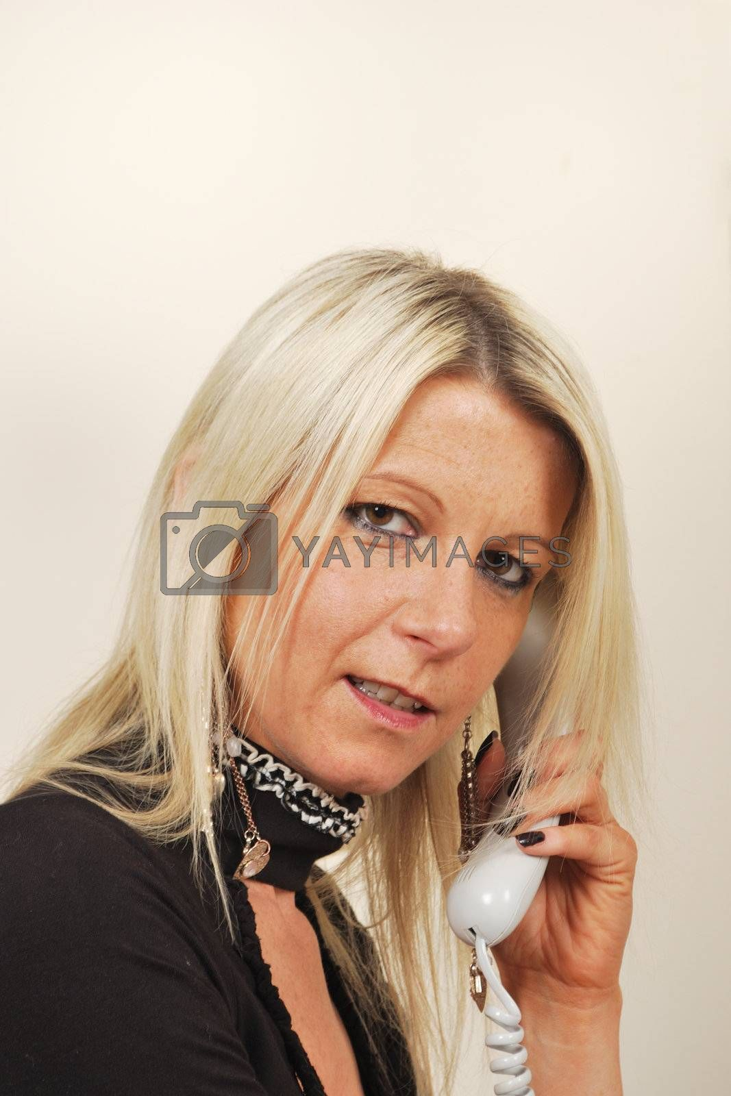 Blonde Businesswoman on phone