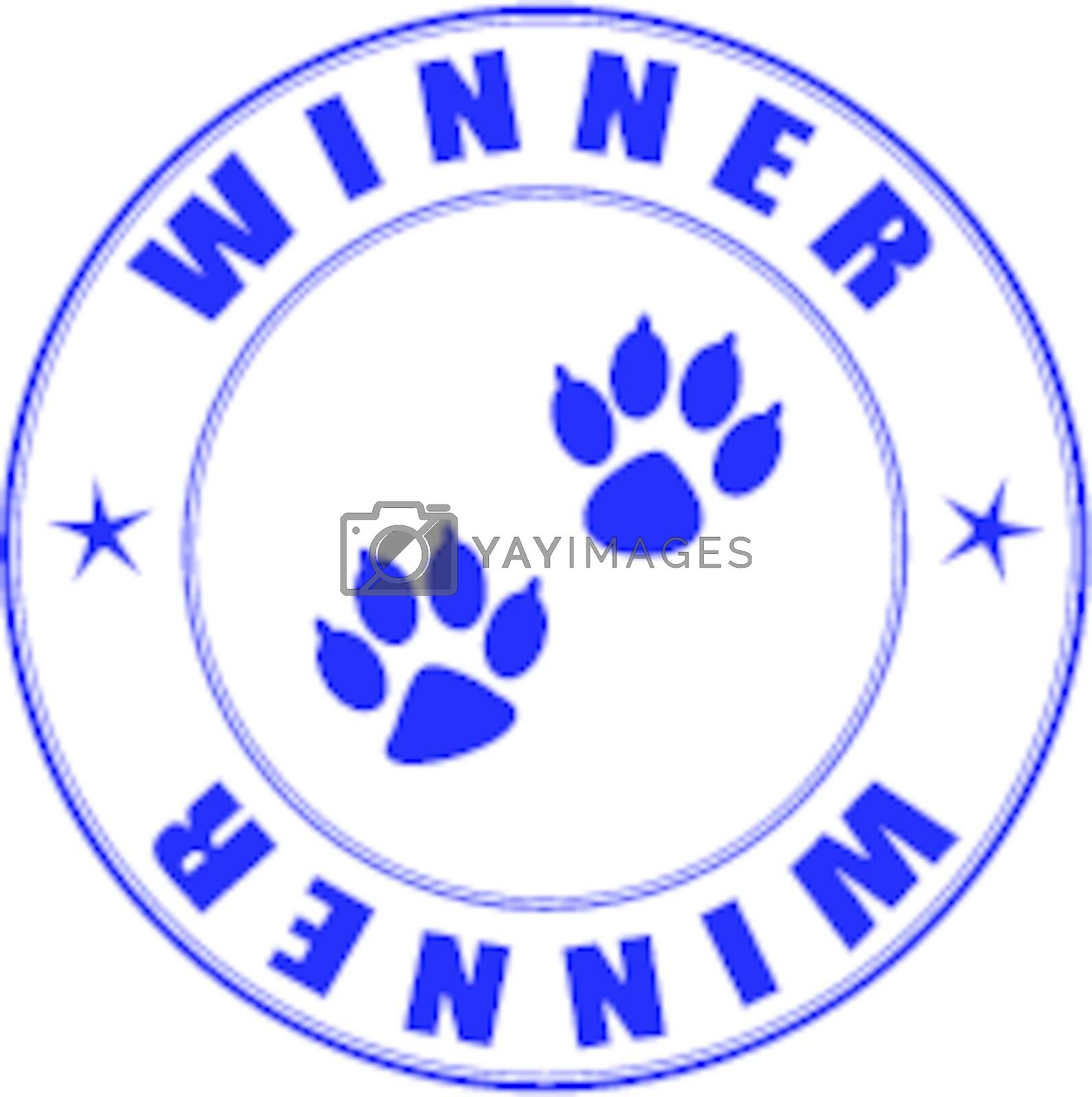 Stamp for the diploma of the winner exhibition pets - vector illustration eps8