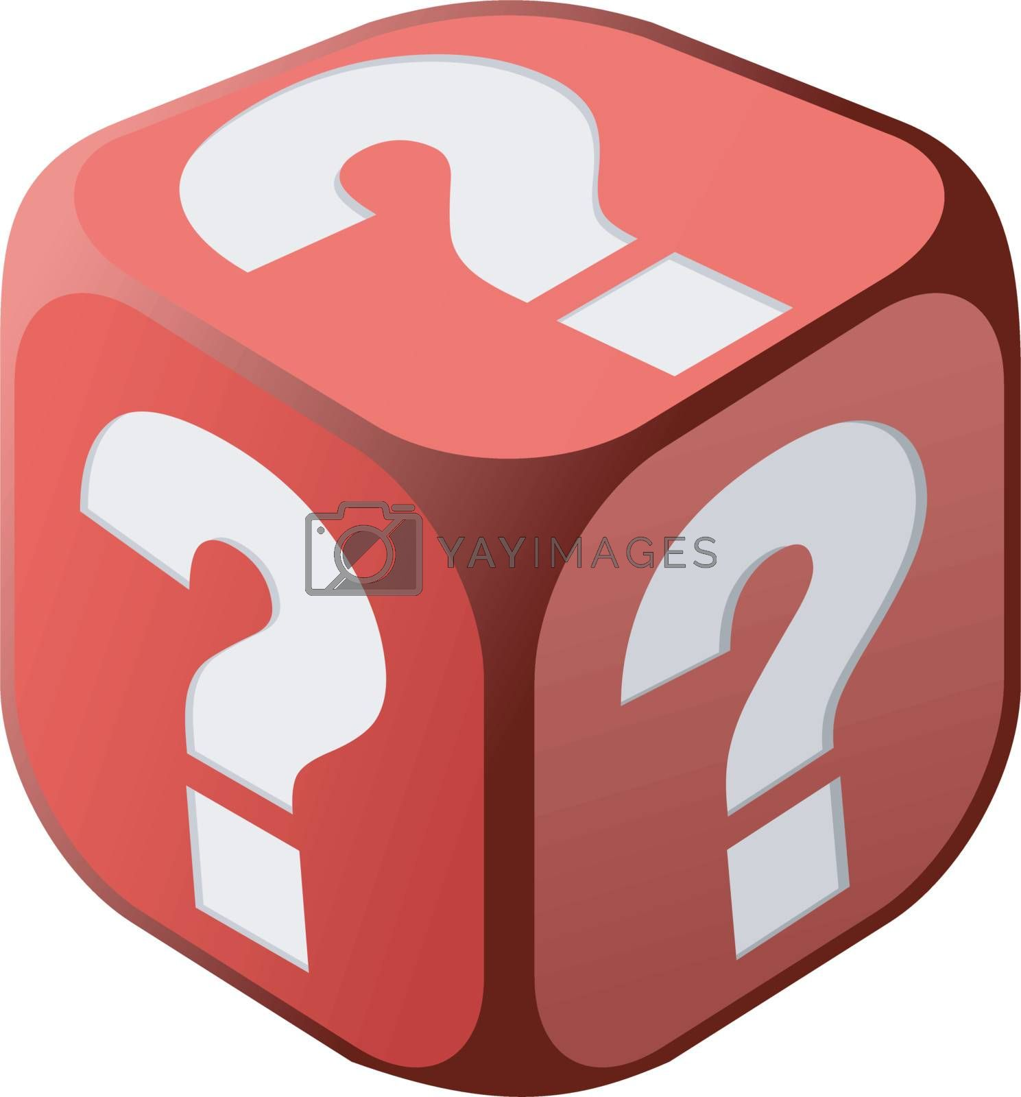 Dice with question marks