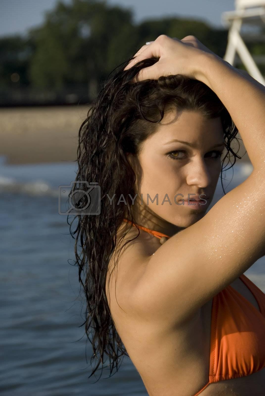 Nikki at the Evanston beach.