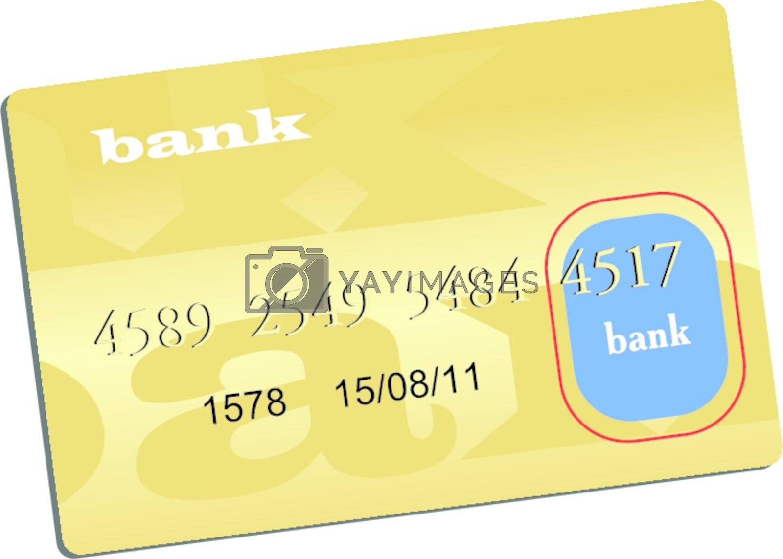 Illustration of golden credit card