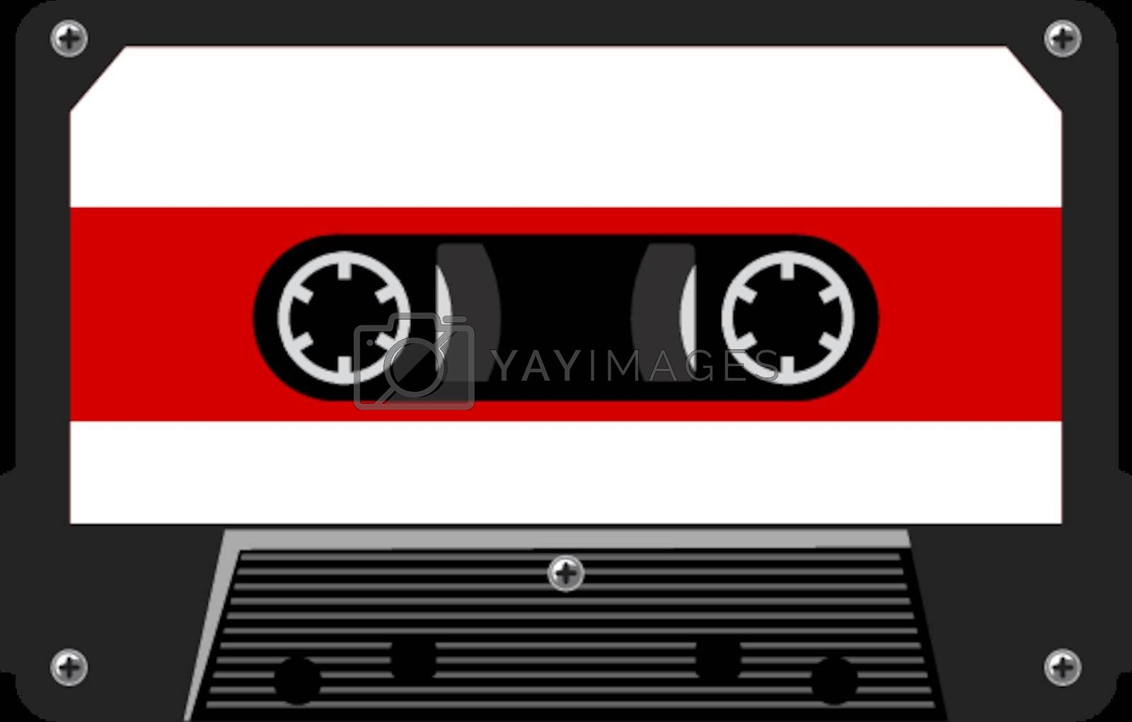 illustration of audio cassette