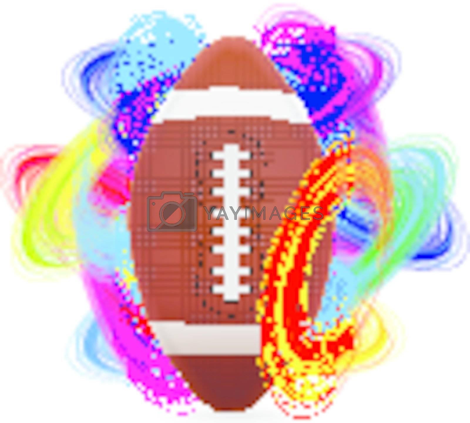 American football ball as the concept of an international tournament