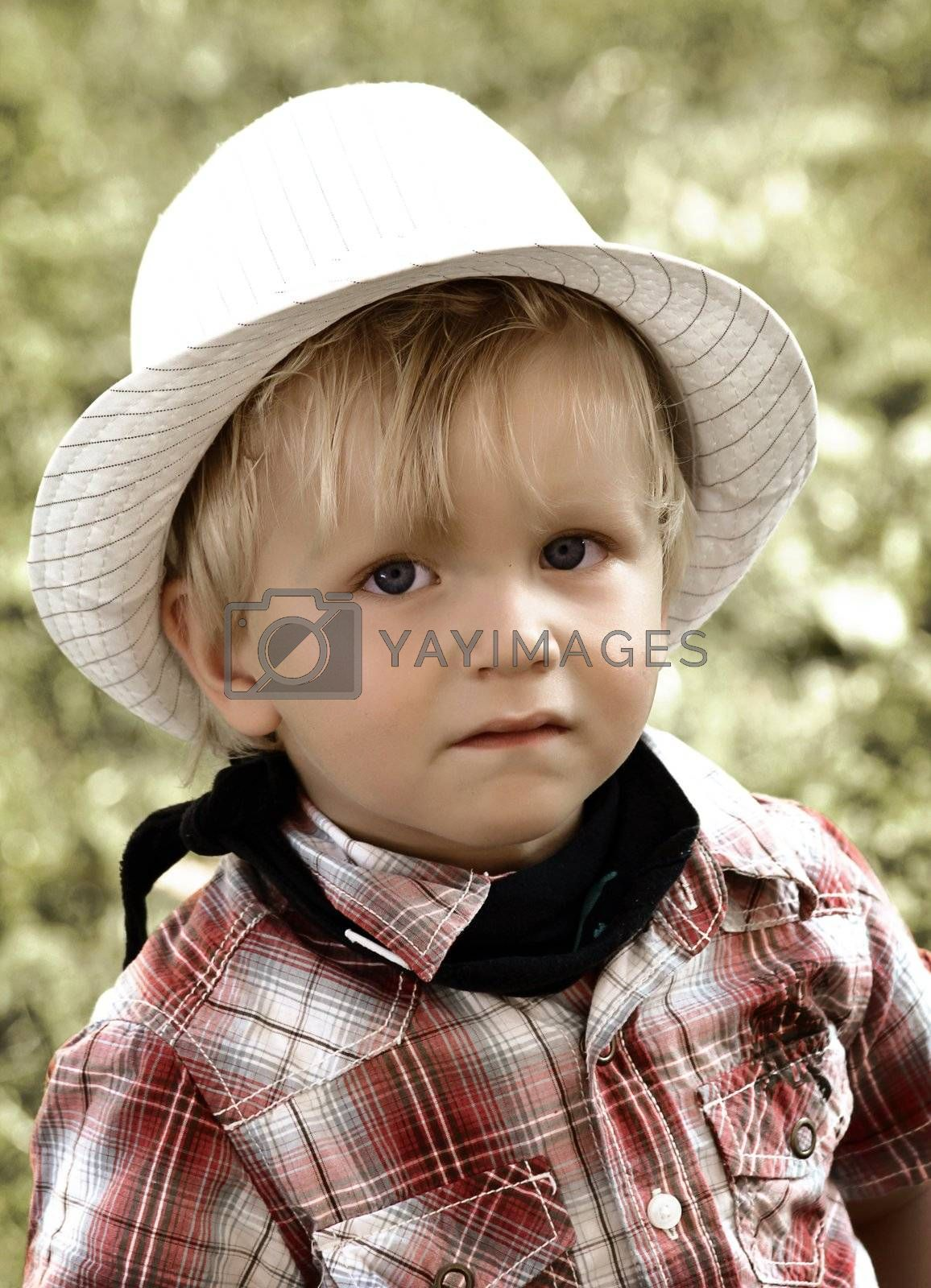 little boy with hat by Hasenonkel