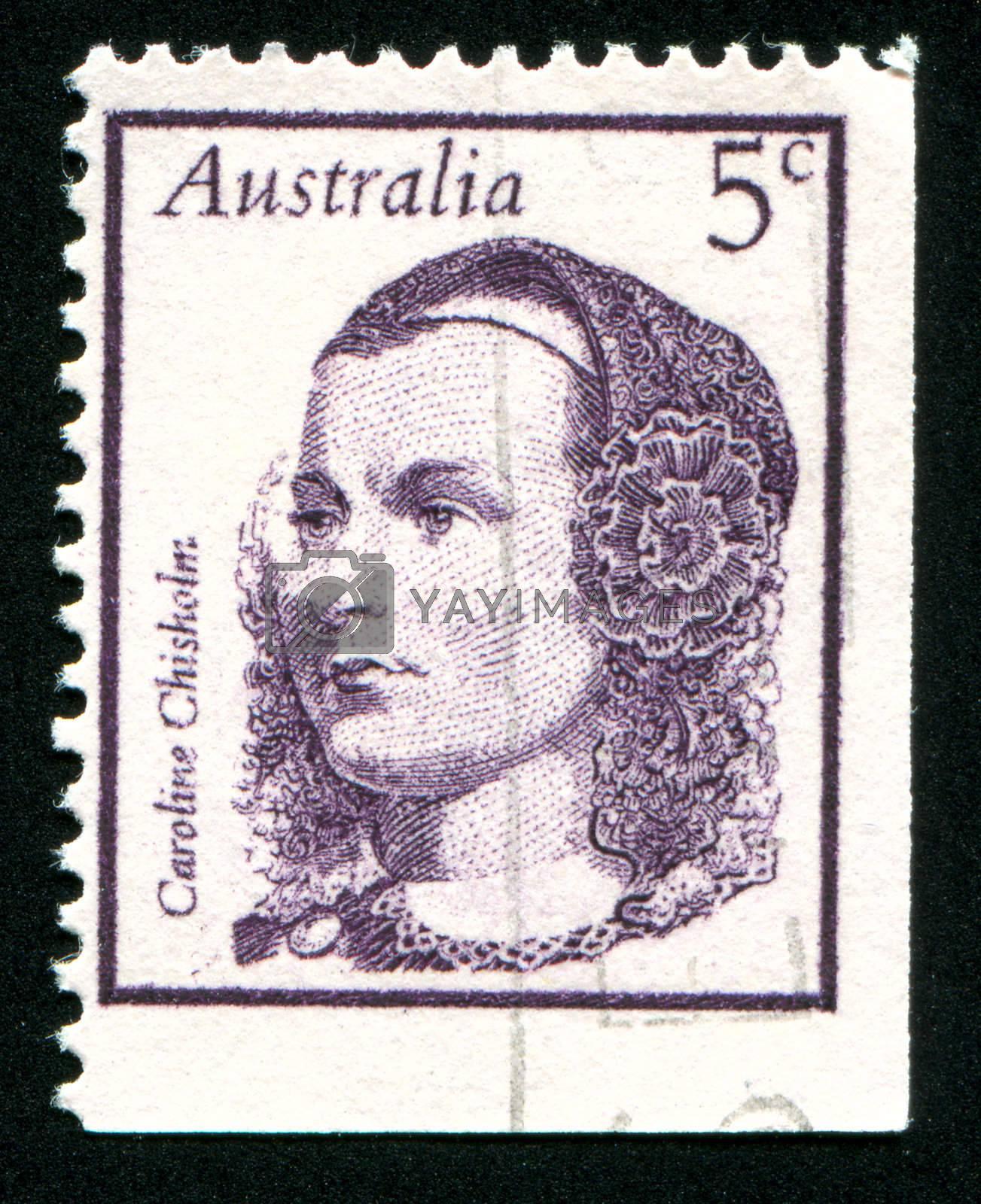 AUSTRALIA - CIRCA 1968: stamp printed by Australia, shows Caroline Chisholm, circa 1968