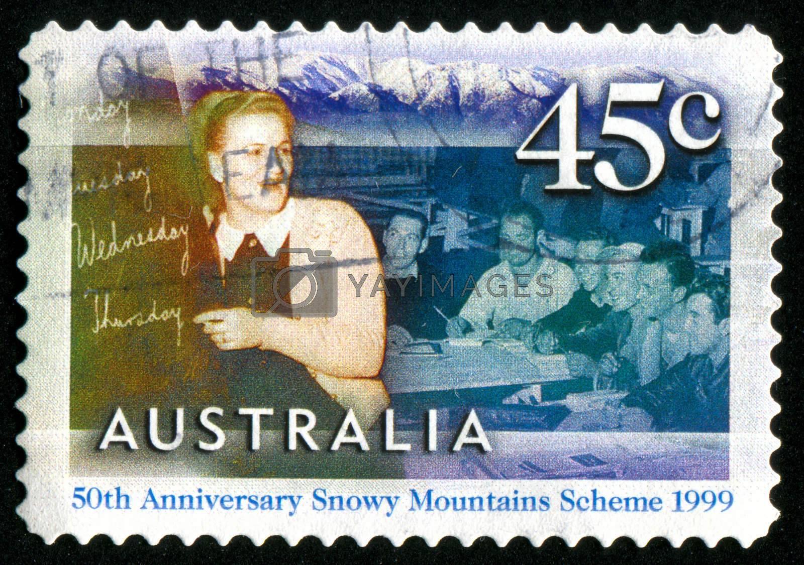 AUSTRALIA - CIRCA 1999: stamp printed by Australia, shows workers and teacher, circa 1999