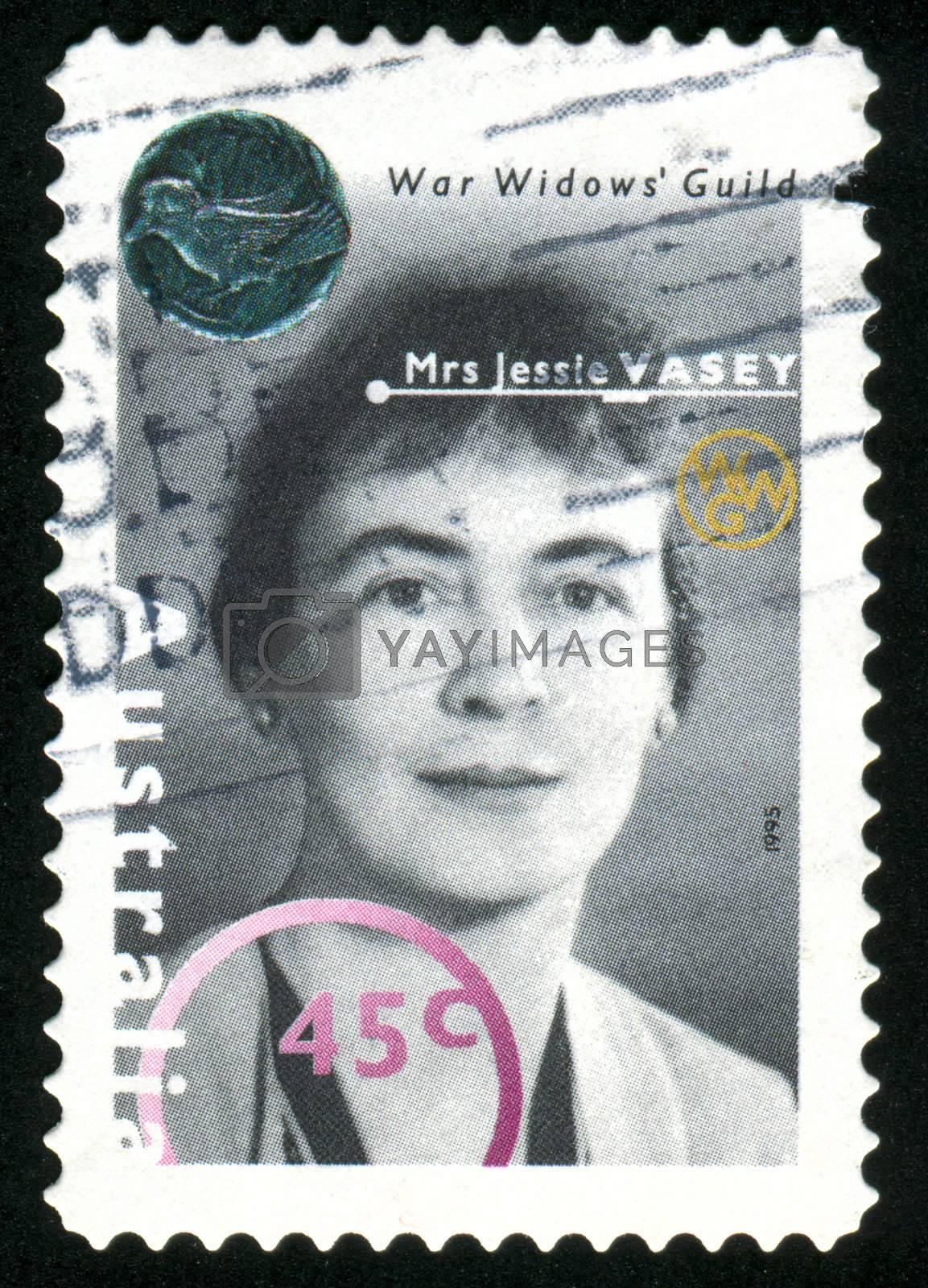 AUSTRALIA - CIRCA 1995: stamp printed by Australia, shows Mrs. Jessie Vasey, circa 1995