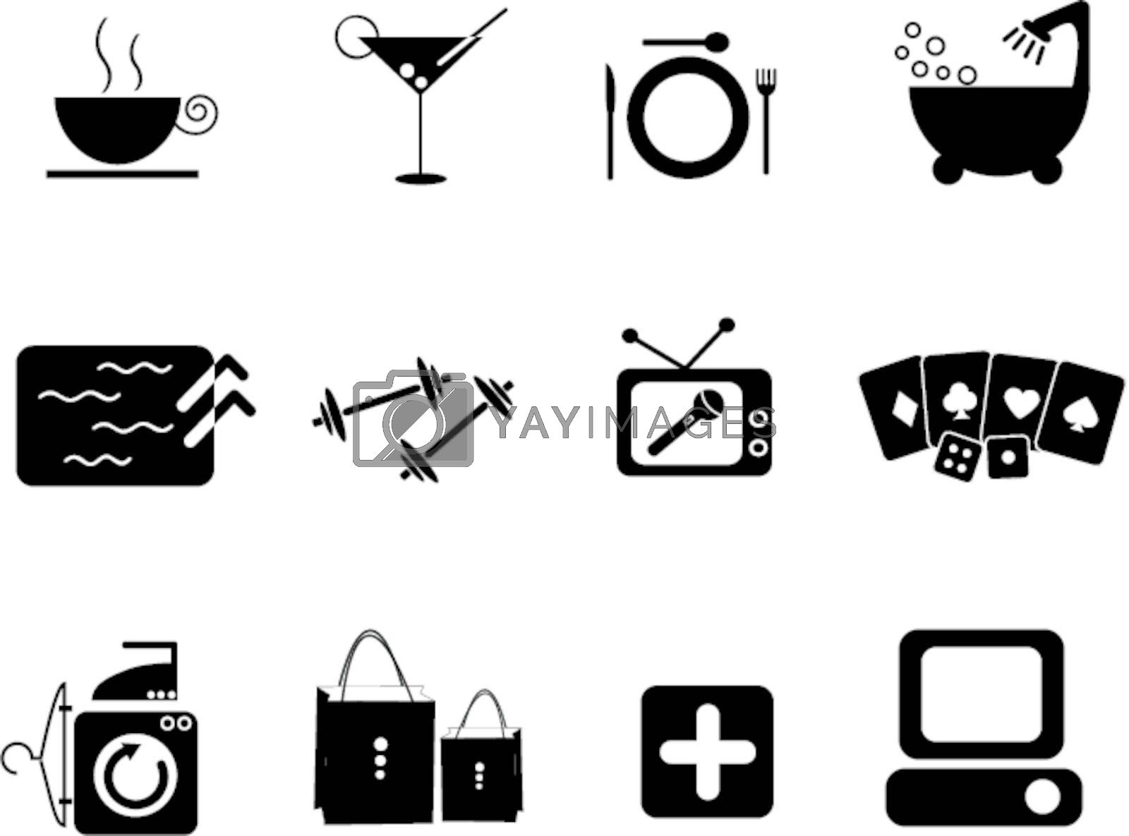Amenities icon for hotel and club
