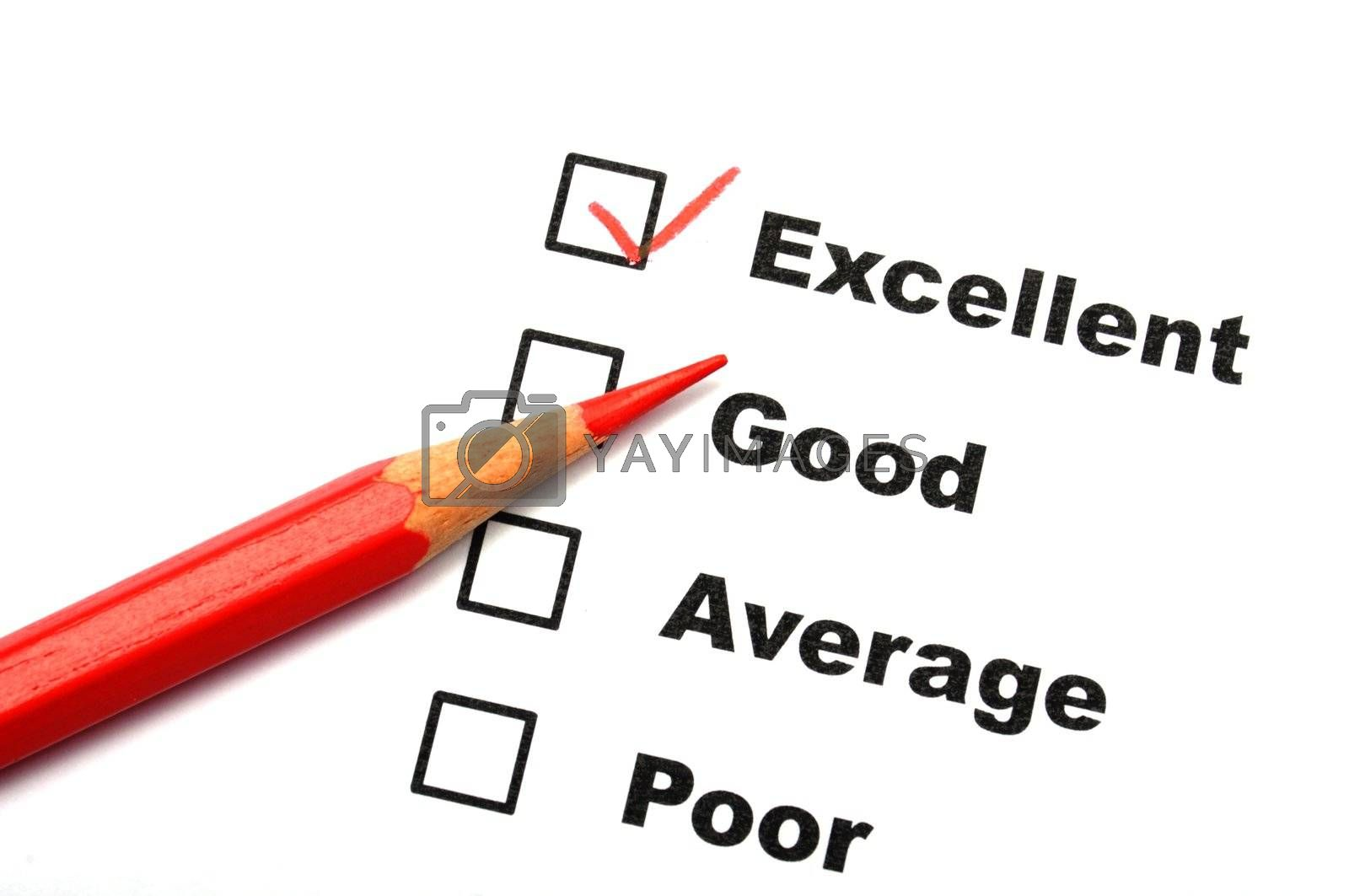 Royalty free image of satisfaction survey by gunnar3000