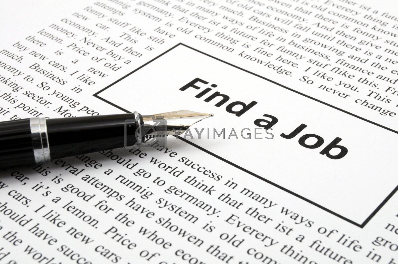 Royalty free image of find a job by gunnar3000
