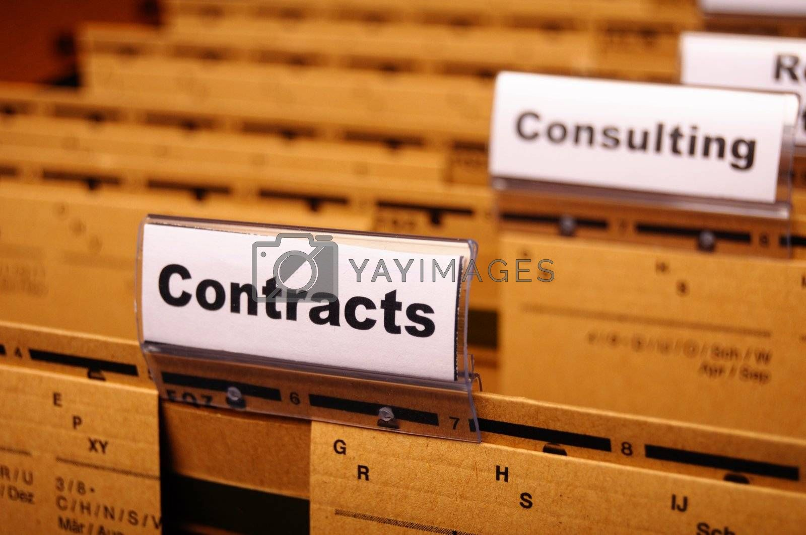 Royalty free image of contract by gunnar3000