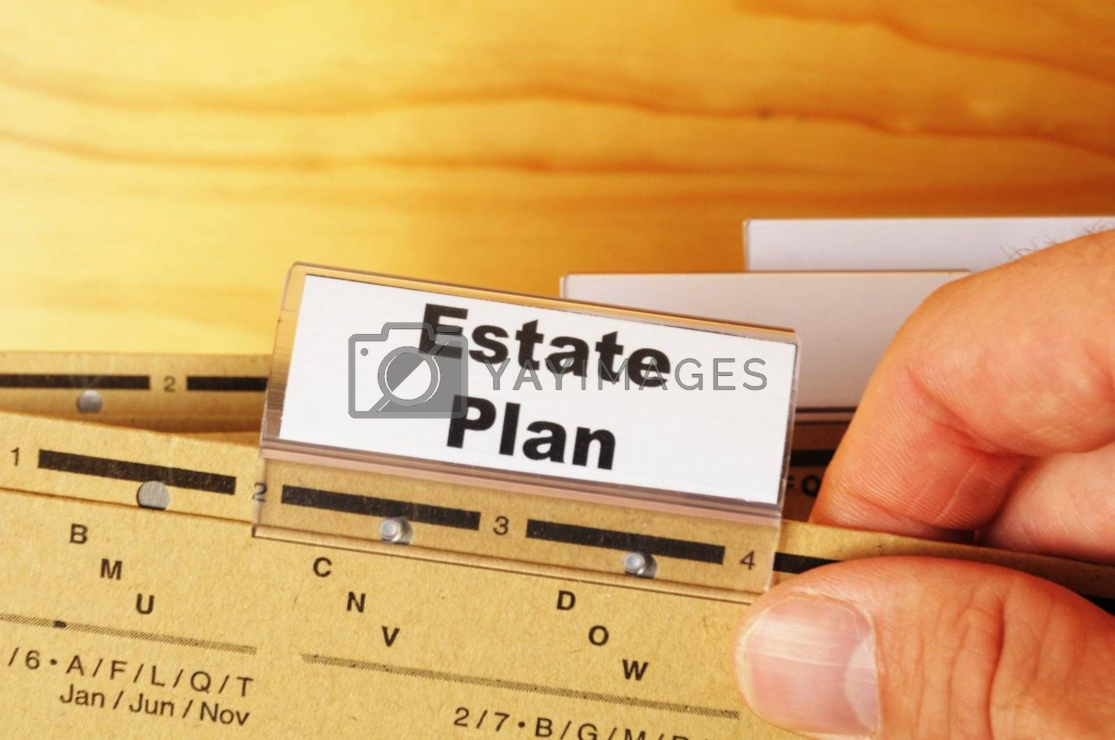 Royalty free image of real estate plan by gunnar3000