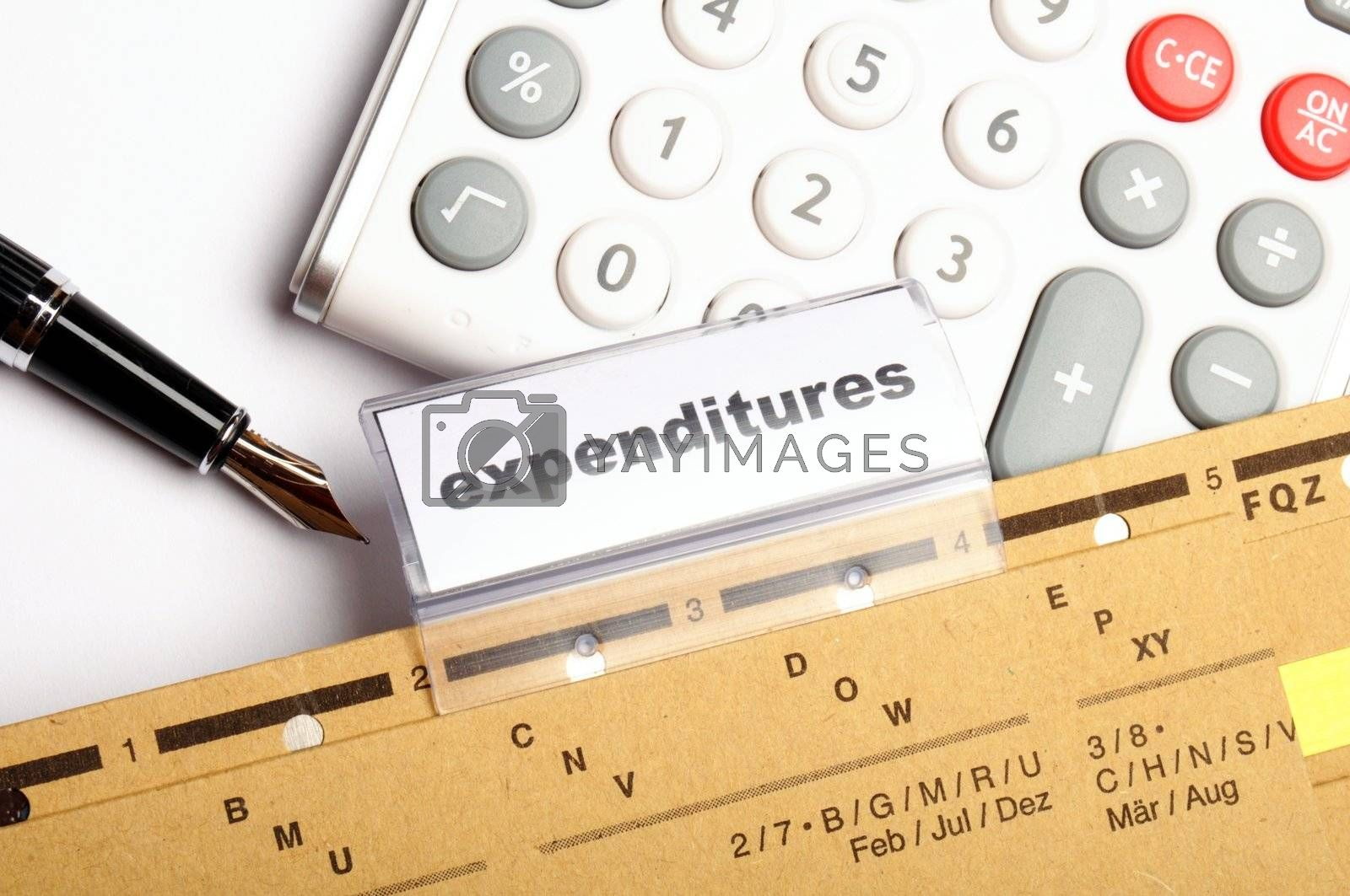 Royalty free image of expenditures by gunnar3000