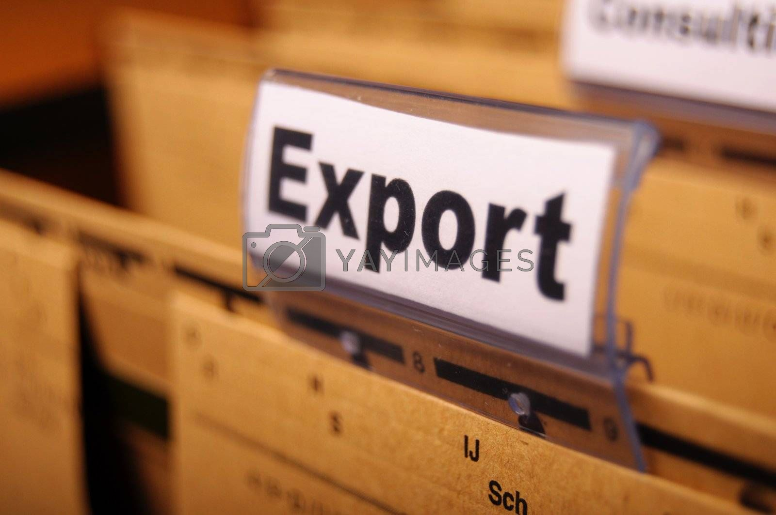 Royalty free image of export by gunnar3000