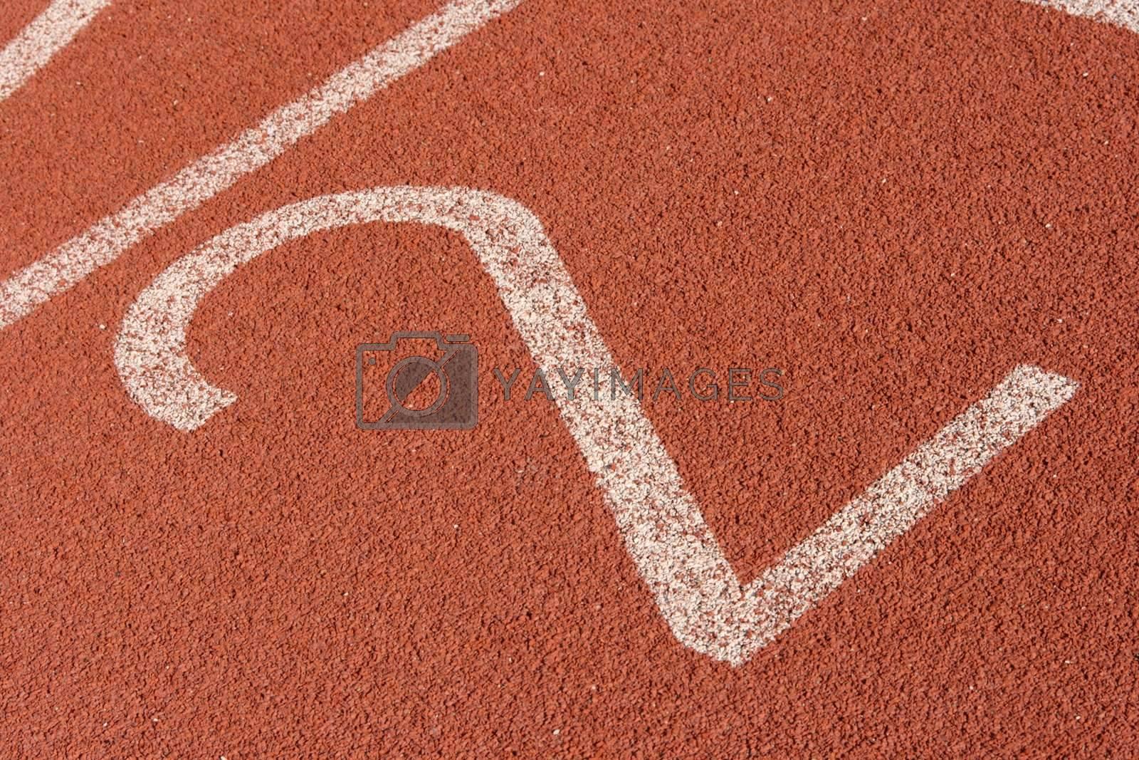 second lane race track detail sports concepts