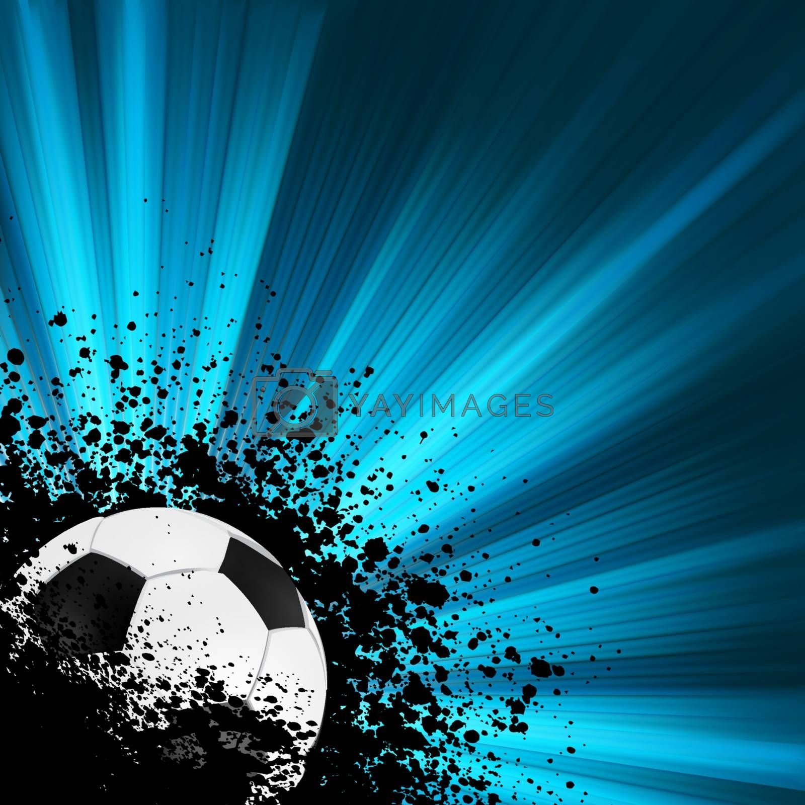 Grunge burst football poster. EPS 8 vector file included