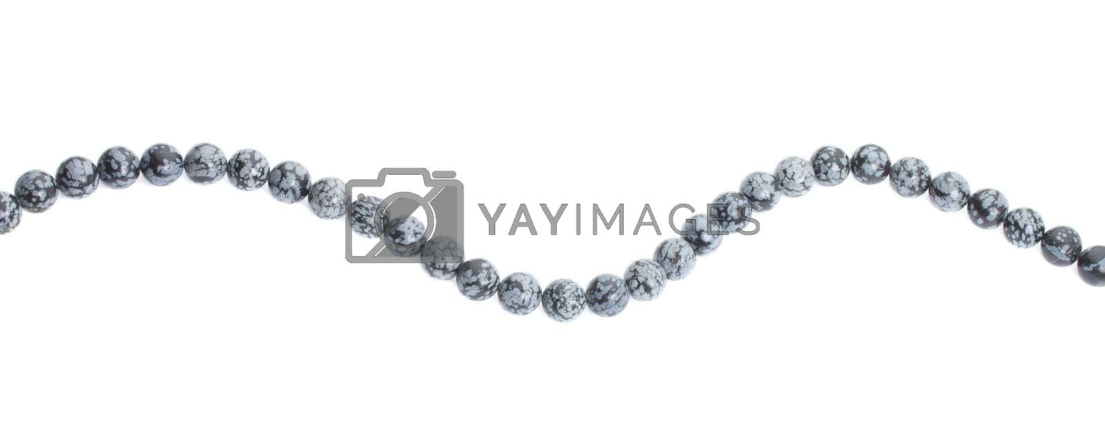 gray beads, isolated on white