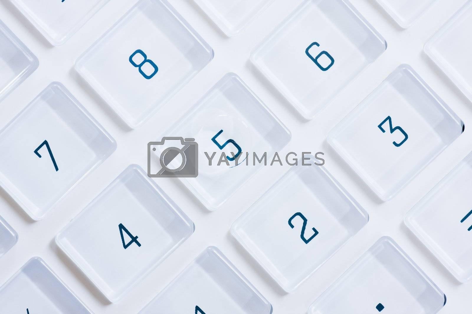 Keys of a calculator by ArtmannWitte