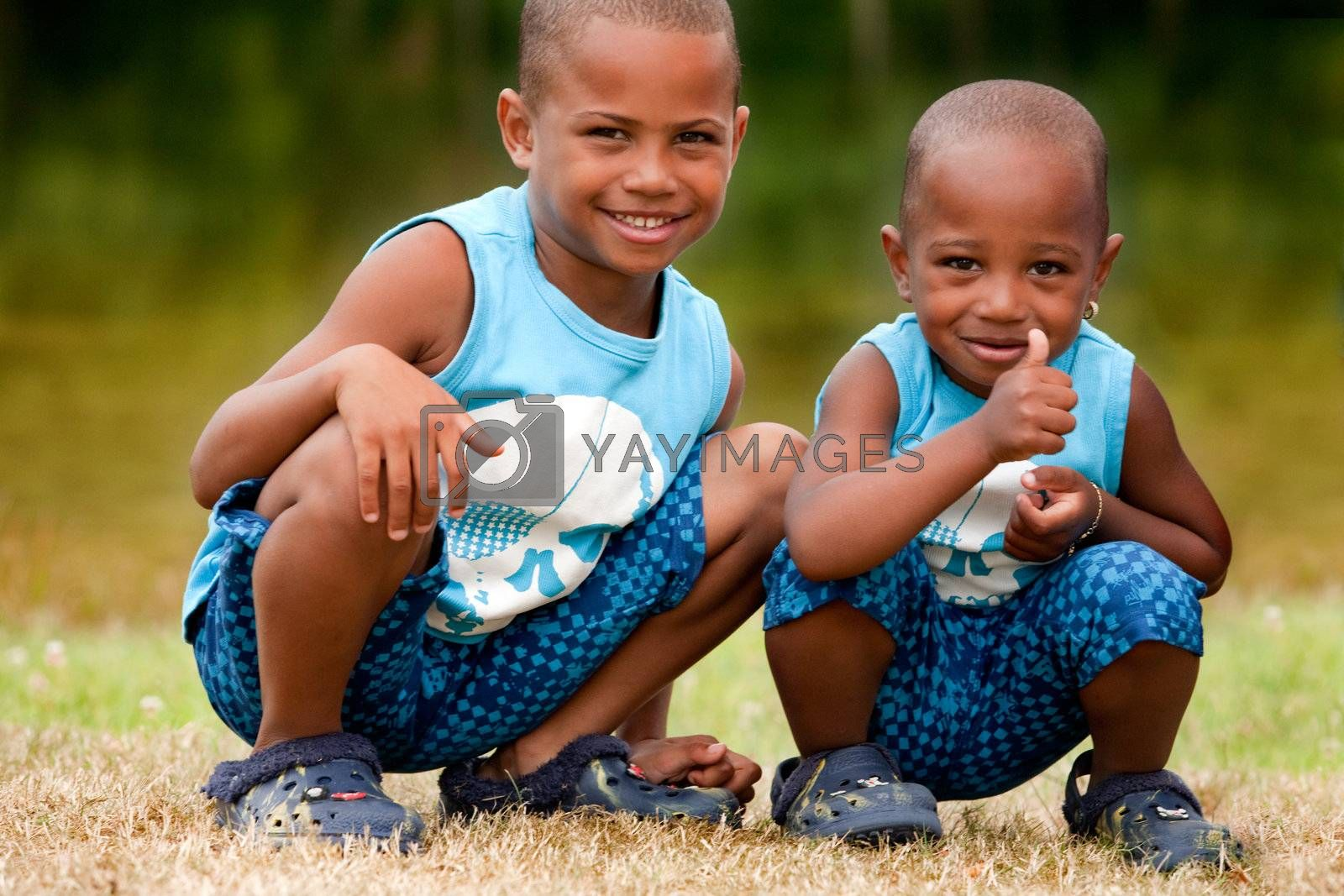 Black children say ok by DNFStyle