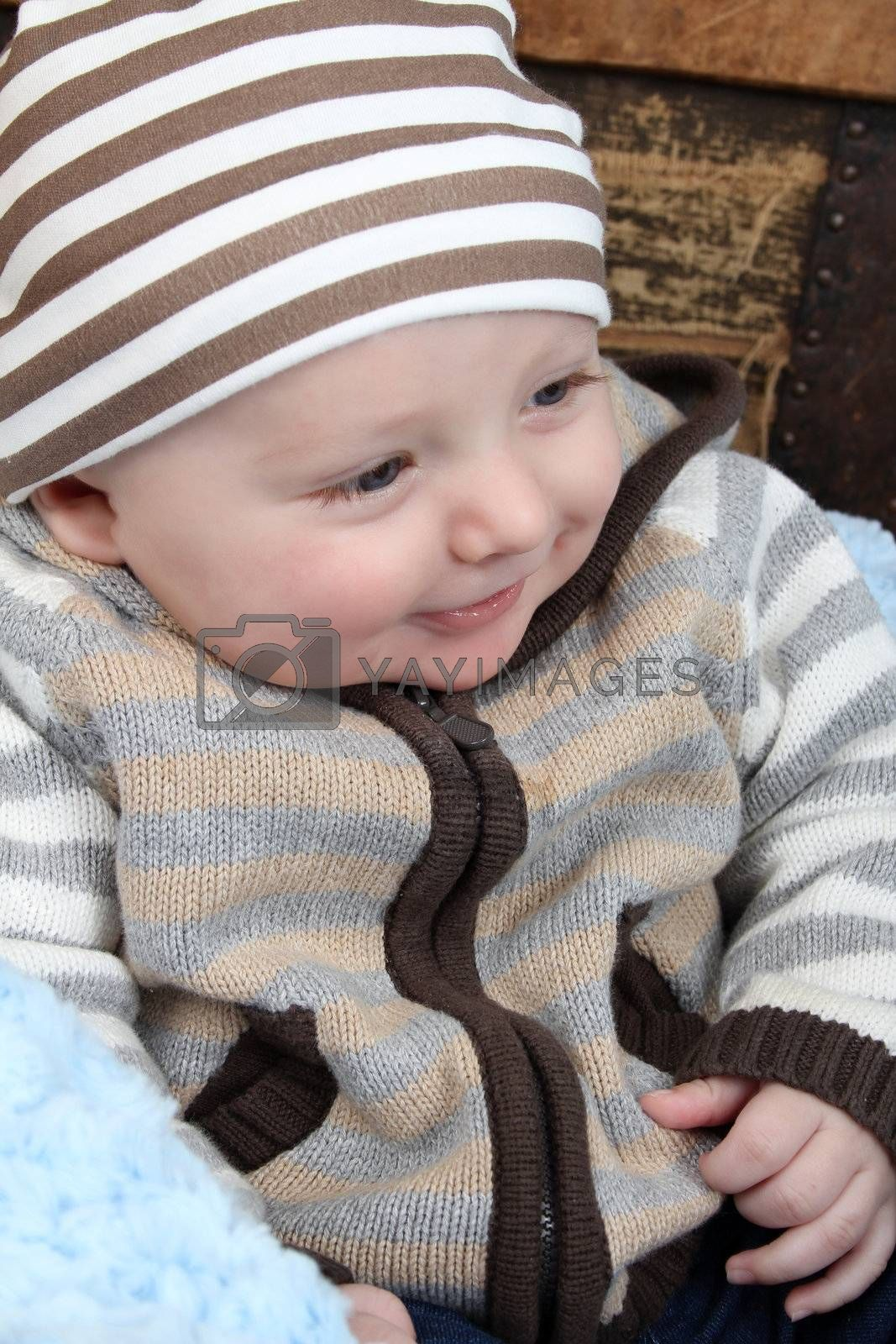 Smiling baby by vanell