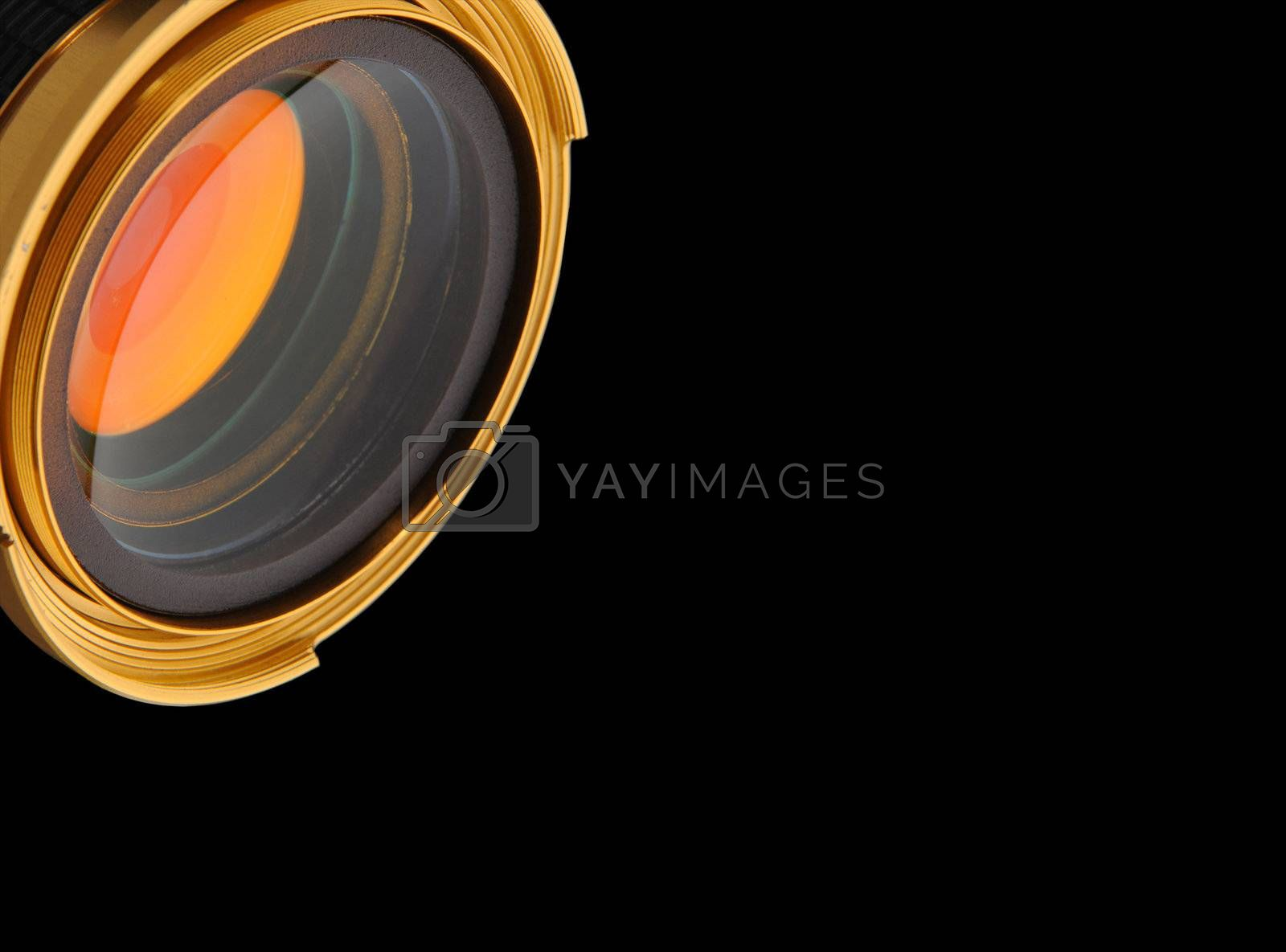 gold, eye, nice, gold, lens, isolated, background, black, color, colored, photo, photography, reflection,