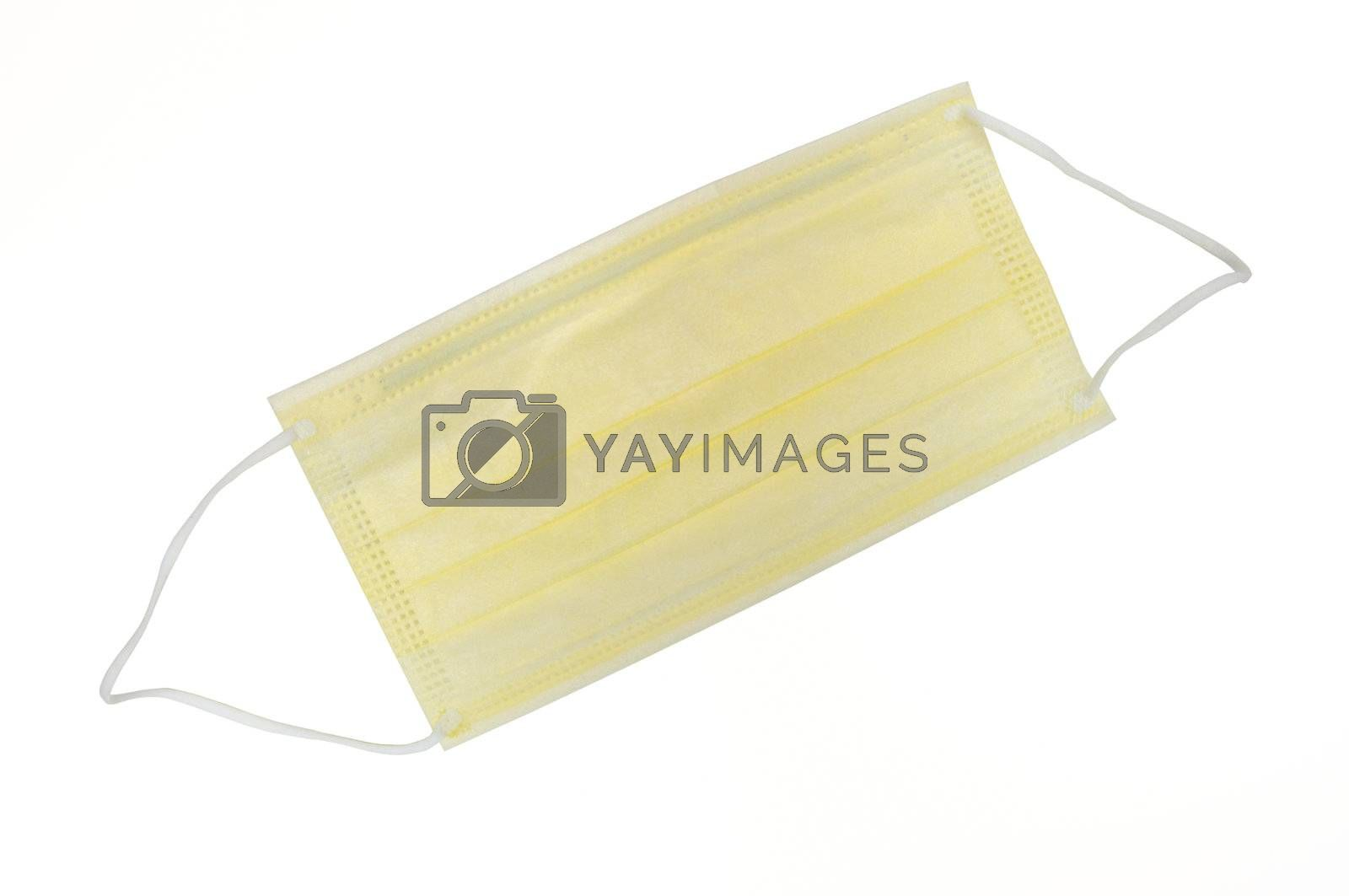 The medical mask isolated on the white background.