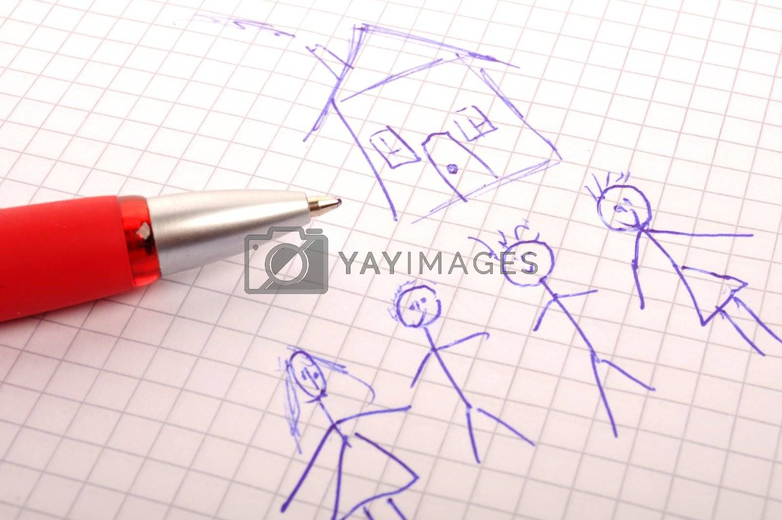 Royalty free image of real estate family by gunnar3000