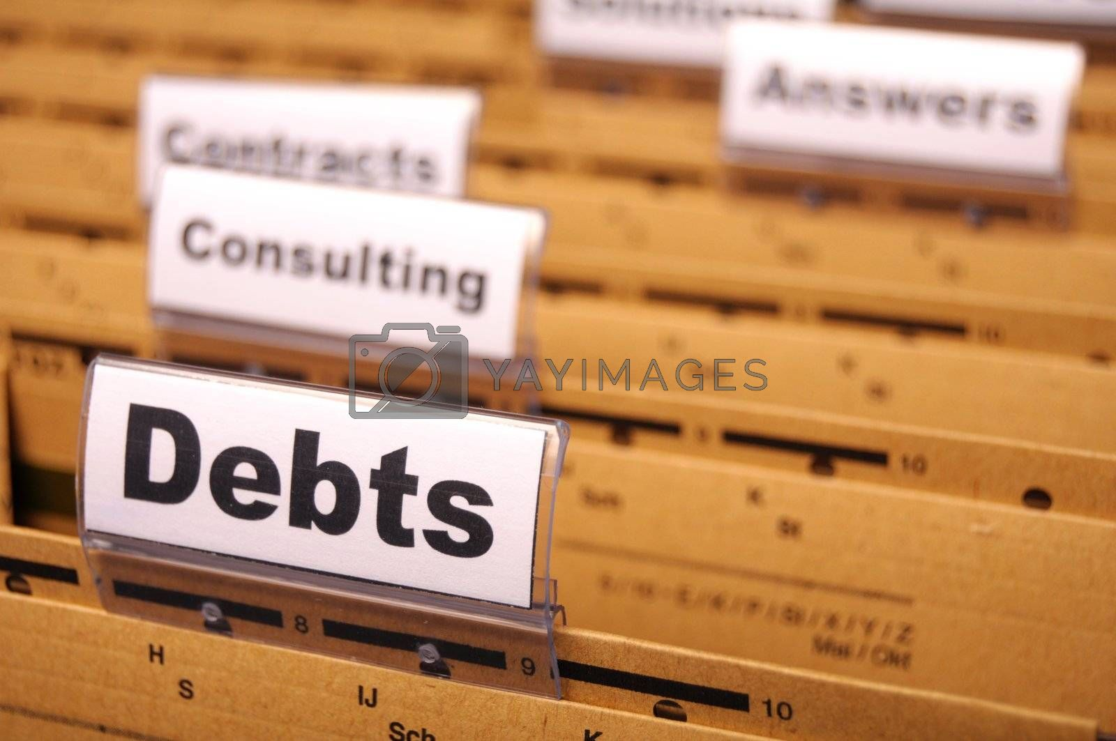 Royalty free image of debt by gunnar3000
