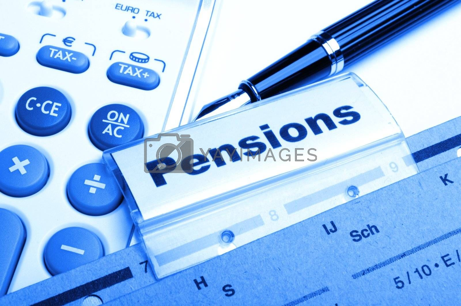 Royalty free image of pensions by gunnar3000
